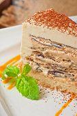 stock photo of ice-cake  - Italian dessert - JPG