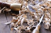 foto of carpenter  - Carpenter tools on a work bench carpentry - JPG
