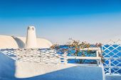 stock photo of landscape architecture  - White architecture on Santorini island Greece - JPG