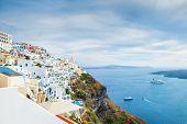pic of landscape architecture  - White architecture on Santorini island Greece - JPG