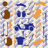 picture of designated driver  - Golf sport items silhouette icon set - JPG