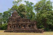 image of hindu  - Hindu sanctuary situated name Tamuen stone castle under sunlight - JPG