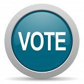 pic of voting  - vote blue glossy web icon - JPG