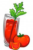 image of bloody  - Illustration of a Bloody Mary Drink with Tomatoes - JPG