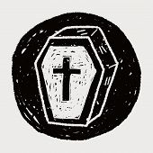 foto of coffin  - Coffin Doodle - JPG