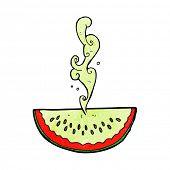 image of squirting  - cartoon juicy squirting watermelon - JPG
