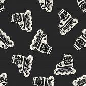 image of roller-derby  - Roller Skate Doodle - JPG