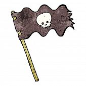 picture of pirate flag  - cartoon pirate flag - JPG