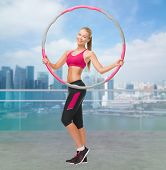 stock photo of hula hoop  - fitness - JPG