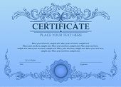 foto of coupon  - Certificate or coupon template with vintage border - JPG