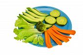 foto of vedic  - plate with vegetables on a white background - JPG