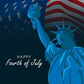 picture of waving  - Happy Fourth of July - JPG