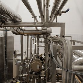 foto of disinfection  - Water disinfection system at dairy production factory - JPG