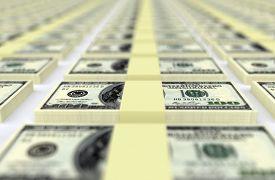 picture of 100 dollars dollar bill american paper money cash stack  - Much money - JPG