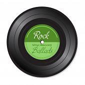 Rock Ballads vinyl record poster