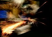 stock photo of tig  - welder at work in action  - JPG
