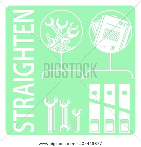 Straighten 5s Methodology Vector Illustratin 5s Method Poster Id