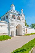 The Main Gate Of Intercession Monastery In Suzdal poster