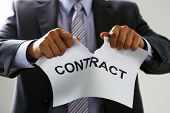 White Collar Worker In Suit And Tie Tear Contract poster