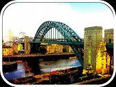 image of tyne  - Abstract photo of Tyne Bridge in Newcastle upon Tyne - JPG