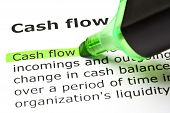 'cash Flow' Highlighted In Green