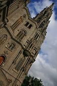 picture of centenarian  - belfry of gothic church of Arucas in Canary Islands - JPG