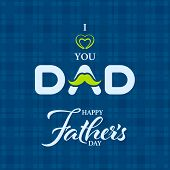 Greeting Message For Fathers Day On Patterned Background. Happy Fathers Day Greeting Card. poster