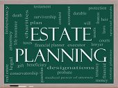 foto of guardian  - Estate Planning Word Cloud Concept on a Chalkboard with great terms such as durable will financials lawyer executor probate and more - JPG