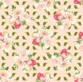 Fuzzy Water Colour Flower Seamless Background, Floral Aquarelle Wallpaper. Blured Watercolour Botani poster