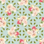 Blur Water Color Spring Flower, Faded Seamless Pattern, Floral Aquarelle Wallpaper. Blured Watercolo poster