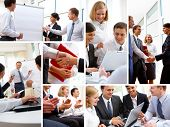 image of negotiating  - Business people in various situations connected with trainings - JPG