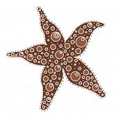 Silhouette Of Starfish In Flat Style. Sea Icon In Cartoon Style Isolated On White Background. Summer poster