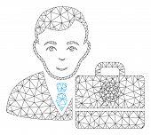 Mesh Cardano Accounter Polygonal Icon Vector Illustration. Abstraction Is Based On Cardano Accounter poster