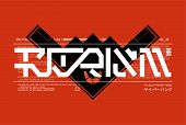 Futurism Lettering For T-shirt Design And Merch. Trandy Digital Elements For Silkscreen Clothing. Le poster