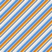 Retro Stripe Pattern With Navy Red, White, Black And Orange Parallel Stripe. Vector Pattern Stripe A poster