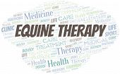 Equine Therapy Word Cloud. Wordcloud Made With Text Only. poster