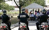 stock photo of nypd  - three policemen - JPG