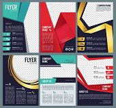 Editable Flyers. Business Brochure Layout Template With Place For Personal Pictures Modern Abstract  poster
