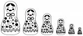 stock photo of cheeky  - A set of Russian Dolls  - JPG