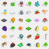Fauna Icons Set. Isometric Style Of 36 Fauna Vector Icons For Web For Any Design poster