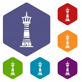 Tall Lighthouse Icon. Simple Illustration Of Tall Lighthouse Vector Icon For Web poster