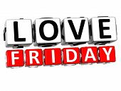picture of box-end  - 3D Love Friday Button Click Here Block Text over white background - JPG