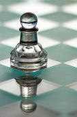 picture of underdog  - Pawn chess piece on chess board  - JPG