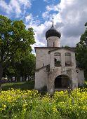Gray Church In Pskov poster