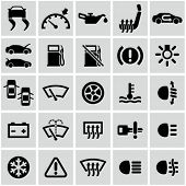 image of low-light  - Car dashboard icons set - JPG