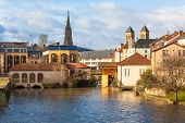 stock photo of moselle  - View of Metz city Lorraine area of France - JPG