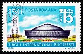 Postage stamp Romania 1970 Exhibition Hall and Oil Derrick