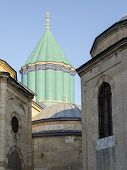 stock photo of rumi  - Mausoleum of Mevlana Celaleddin  - JPG