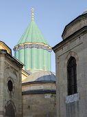 stock photo of rumi  - Mausoleum of Mevlana Celaleddin  - JPG