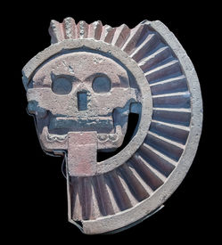 stock photo of underworld  - Mictlantecuhtli an Aztec god of the dead and king of Mictlan the lowest level of the underworld - JPG
